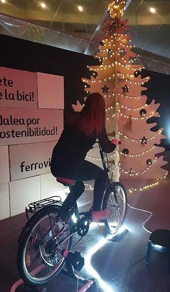 Arbol navidad con bicicletas