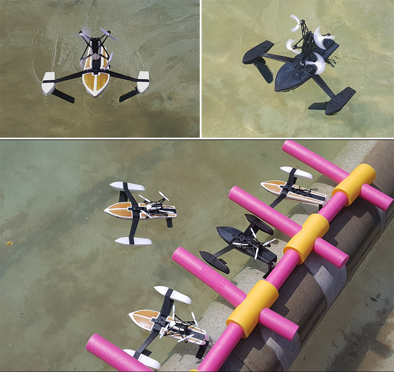 Drones como barcos rc para eventos