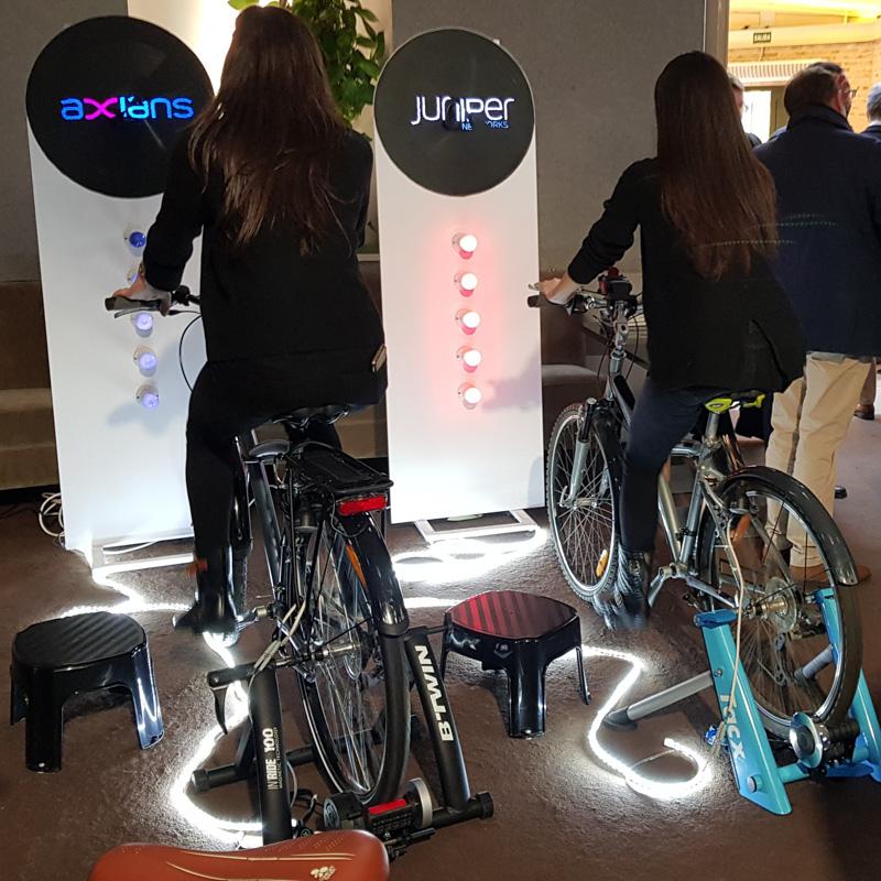 Energía a pedales para eventos